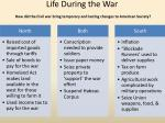 life during the war how did the civil war bring temporary and lasting changes to american society