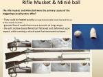 rifle musket mini ball