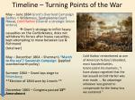 timeline turning points of the war1