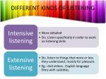 different kinds of listening