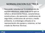 normalizacion electrica
