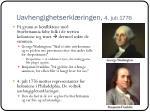 uavhengighetserkl ringen 4 juli 1776