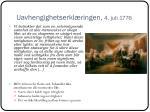 uavhengighetserkl ringen 4 juli 17761