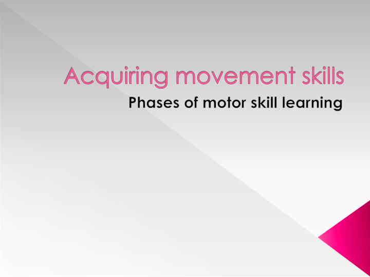 learned skilled movement representation - 720×540