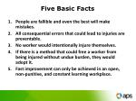 five basic facts