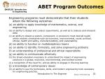 abet program outcomes