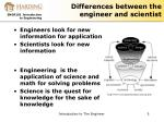 differences between the engineer and scientist