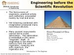 engineering before the scientific revolution