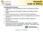 excerpt code of ethics