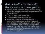 what actually is the cell theory and the three parts