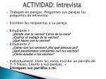 actividad intrevista