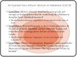 an example from arthurs sermon on habakkuk 3 16 19