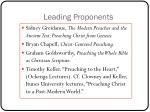 leading proponents