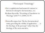 pericopal theology