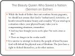 the beauty queen who saved a nation sermon on esther