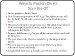 ways to preach christ from the ot