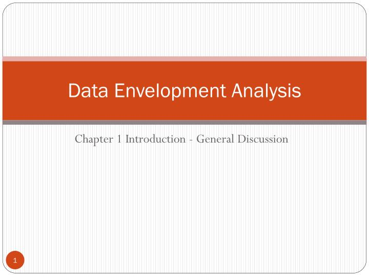 data envelopment analysis n.