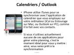 calendriers outlook