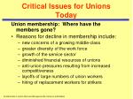 critical issues for unions today1