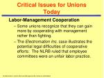 critical issues for unions today3