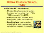 critical issues for unions today4