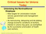 critical issues for unions today5