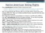 native american voting rights