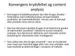 konvergens krydsfeltet og content analysis