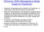 o connor 2010 manageing a hotels image on tripadvisor