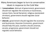 many americans began to turn to conservative ideals in response to the cold war