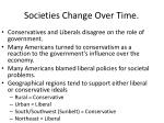 societies change over time