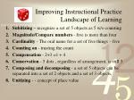improving instructional practice landscape of learning