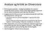 analyse og kritikk av olivercrona