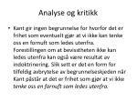analyse og kritikk