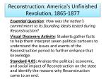 reconstruction america s unfinished revolution 1865 1877