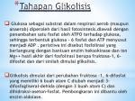 tahapan glikolisis