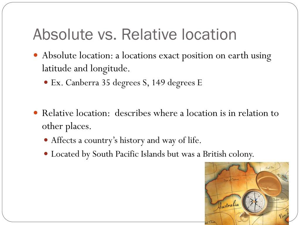 PPT - Australia Relative and Absolute Location PowerPoint