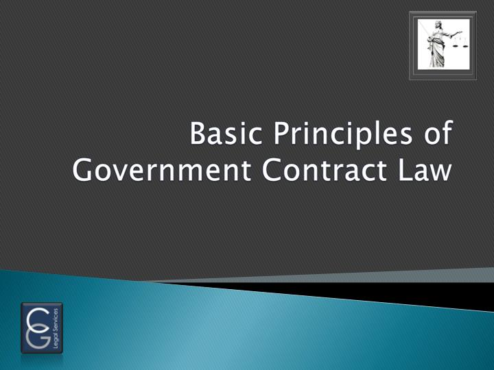 basic principles of government contract law n.