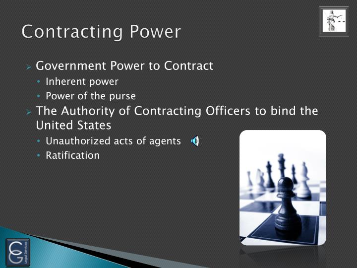Contracting Power