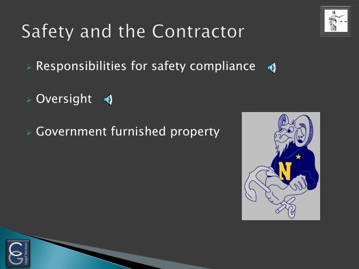 Safety and the Contractor
