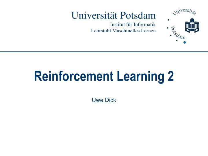 reinforcement learning 2 n.