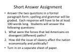 short answer assignment