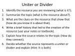 uniter or divider