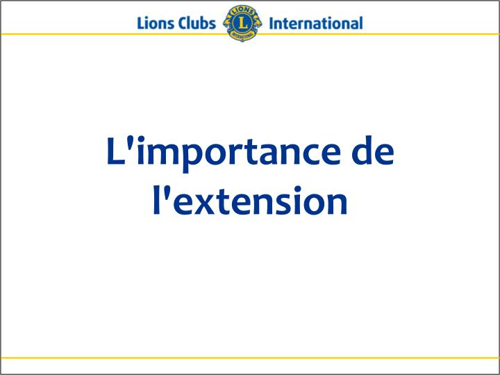 l importance de l extension n.