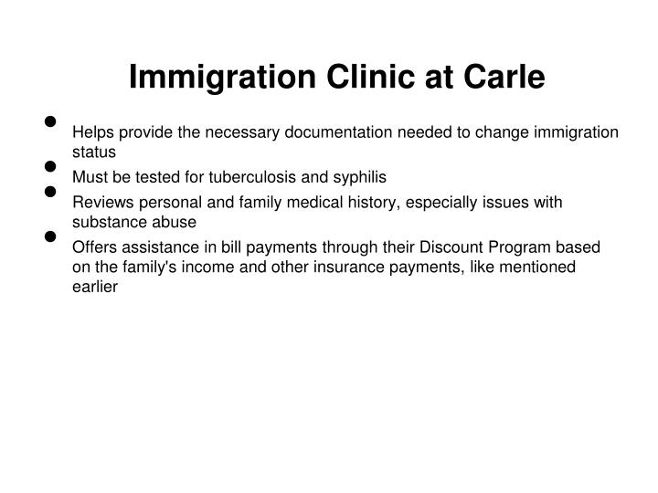 Immigration Clinic at Carle