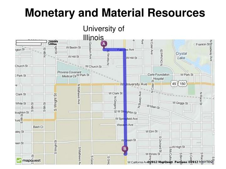Monetary and Material Resources