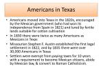 americans in texas