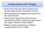 compromise over oregon