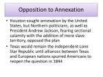opposition to annexation
