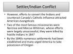 settler indian conflict